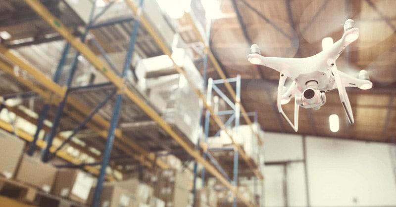 drones na gestão de armazéns: principais vantagens